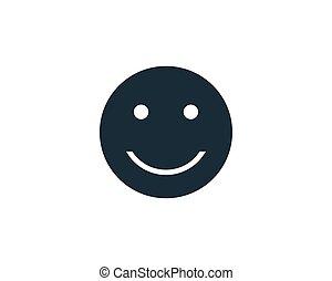ロゴ, emoticon, デザイン, ベクトル, 微笑, アイコン, テンプレート, イラスト
