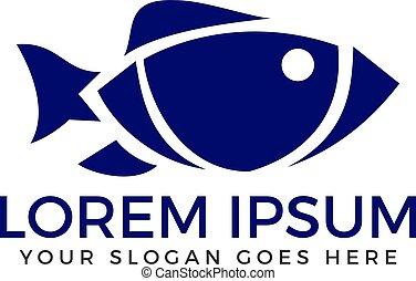 ロゴ, fish, ベクトル, design.