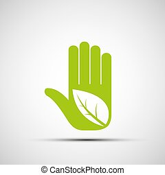 ロゴ, leaf., 人間の術中
