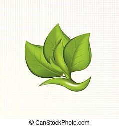 ロゴ, leafs, アイコン