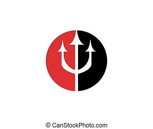 ロゴ, trident