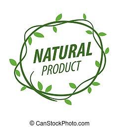 ロゴ, vegetative, ベクトル, 装飾, ラウンド