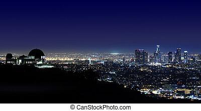 ロサンゼルス, の上, griffith 天文台, ロサンゼルス, カリフォルニア