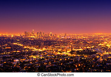 ロサンゼルス, 都市, 都市, ∥において∥, 日没