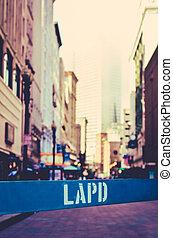 ロサンゼルス, 障壁, dept, 警察