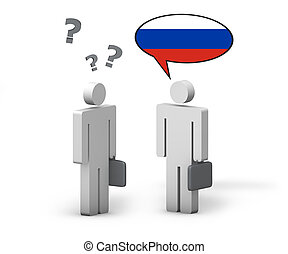 ロシア人, 概念, ビジネス, 言語