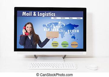 ロジスティクス, 網, 分配, 輸送, デスクトップ