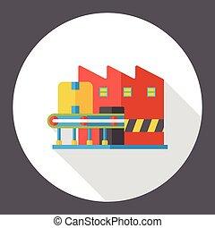ロジスティックである, 倉庫, 平ら, アイコン