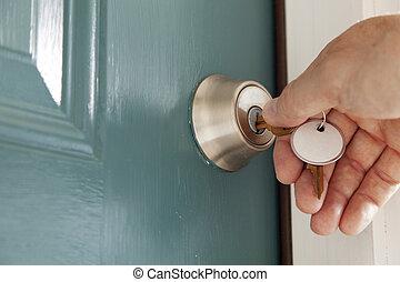 ロックされる, ドア
