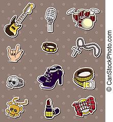 ロックミュージック, バンド, ステッカー