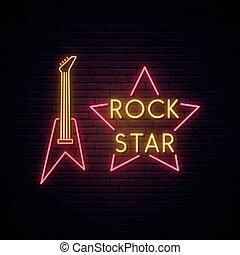 ロックミュージック, 印。, ネオン