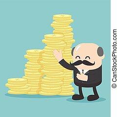 ロット, お金, 概念, ビジネス, 提供