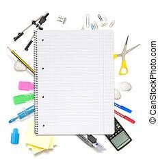 ロット, オブジェクト, メモ用紙, オフィス