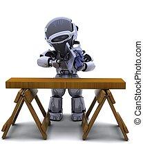 ロボット, ∥で∥, 力は 見た, 切断木