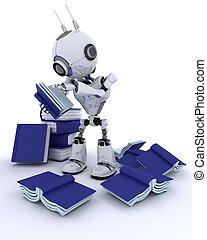 ロボット, ∥で∥, 本の積み重ね