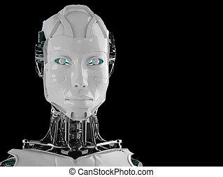 ロボット, 女性, アンドロイド, 隔離された