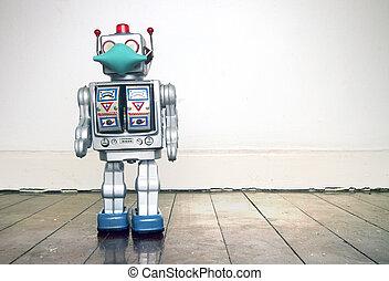 ロボット, 19, civid, テキスト, レトロ