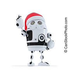 ロボット, santa, 指すこと