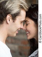 ロマンチックな カップル, 一緒に, 瞬間, 売りに出しなさい, 楽しむ, 情事