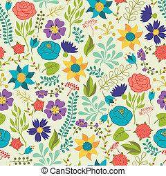 ロマンチック, パターン, seamless, 様々, retro は開花する, style.