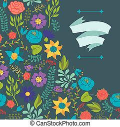 ロマンチック, 様々, レトロ, 背景, 花, style.