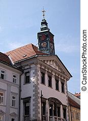 ロマンチック, 都市, スロベニア, ljubljana, 中世, 古い