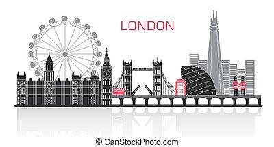 ロンドン, シルエット, 都市