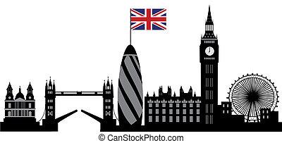 ロンドン, スカイライン, ∥で∥, 旗