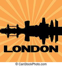 ロンドン, スカイライン, sunburst