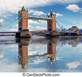 ロンドン, タワー, -, 橋, イギリス