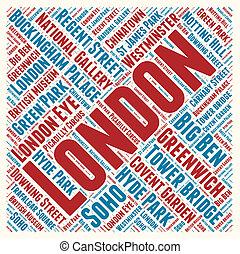 ロンドン, 単語, 雲