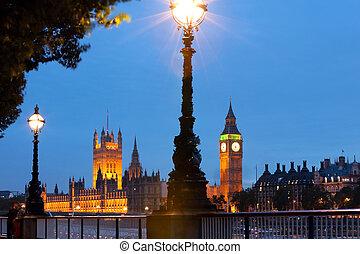 ロンドン, 打撃, 夜