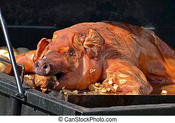 ロースト用の豚