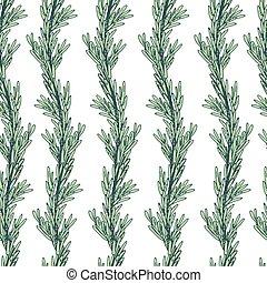 ローズマリー, pattern., seamless