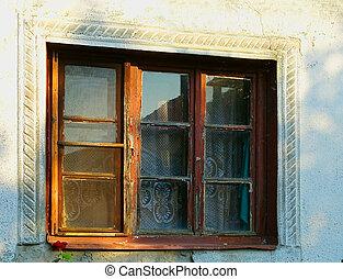 ローズ 窓, 古い, 細部