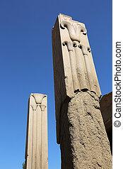 ロータス, エジプト, コラム, karnak, 寺院