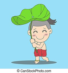 ロータス, 男の子, 葉