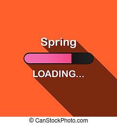 ローディング, 春, -, 長い間, イラスト, 影