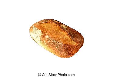 ローフ, bread, 白, 隔離された