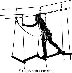 ロープはしご, 公園, 冒険