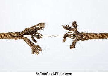 ロープ, すり減った