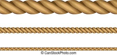 ロープ, ベクトル, イラスト