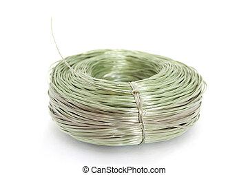 ロープ, 上に, 白い背景, プラスチック