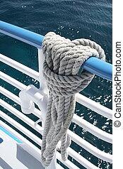 ロープ, 係留