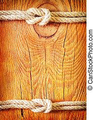 ロープ, 木製である, 背景