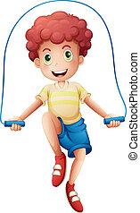 ロープ, 男の子, 遊び