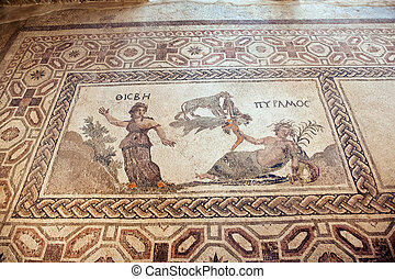 ローマ人, キプロス, モザイク, paphos