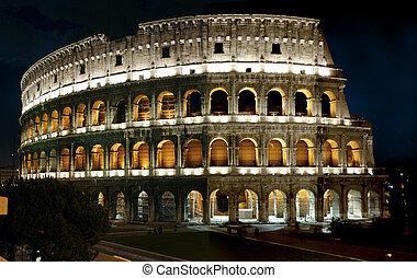 ローマ人, 夜, colliseum