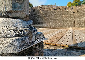 ローマ人, amphitheatre, ライオン