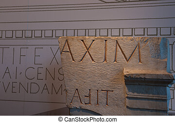 ローマ人, inscription.